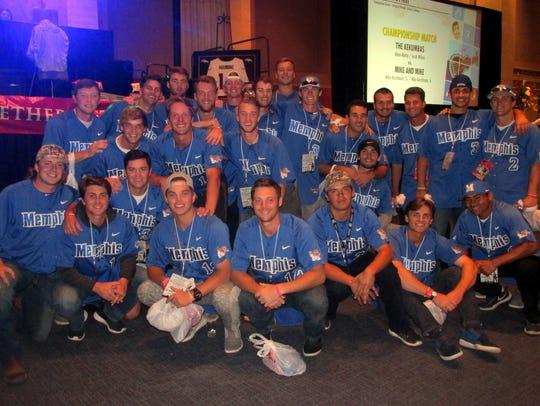 The University of Memphis Tigers baseball team volunteered