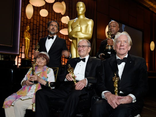 Left to right, 2017 Governors Awards honorees Agnes