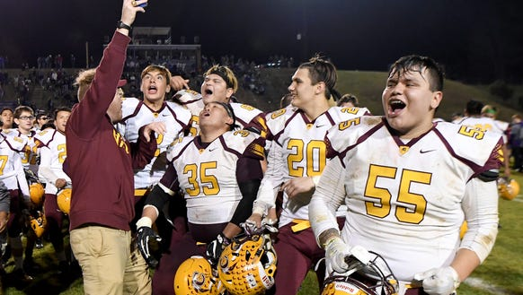 Cherokee's Will Davis, far right, and the rest of the