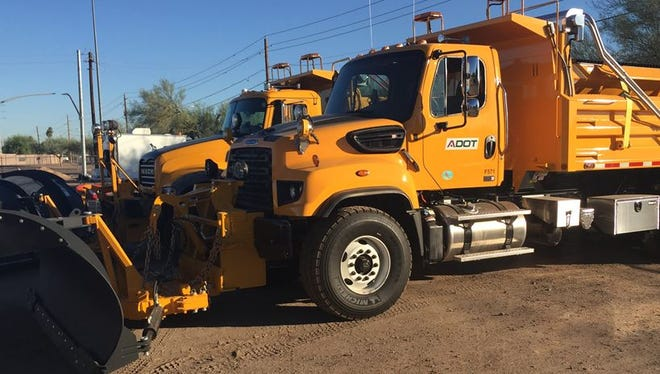 The Arizona Department of Transportation has 197 snowplows in its fleet as of Nov. 15, 2016. The average cost of each machine is $250,000, according to ADOT.