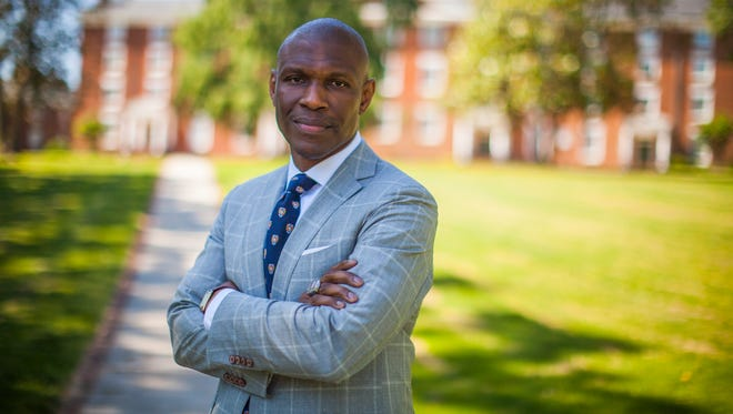 Christopher Howard, President of Hampden-Sydney College on the campus.