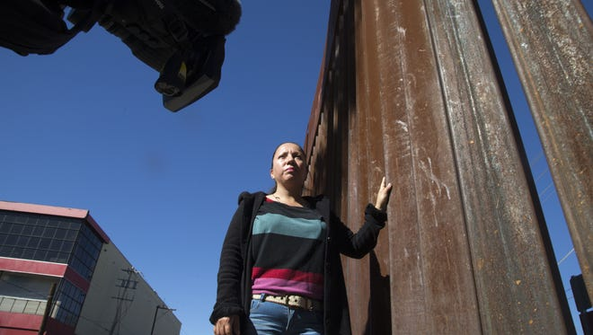 Guadalupe Garcia de Rayos is interviewed at the border wall on Feb. 10, 2017, in Nogales, Sonora.