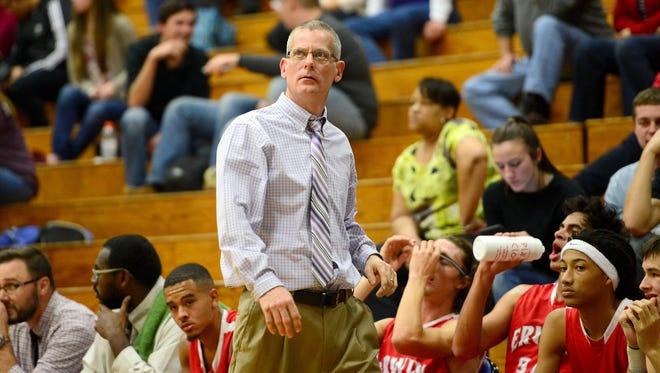 Erwin boys basketball coach David Rhoney has resigned, the school announced Friday.