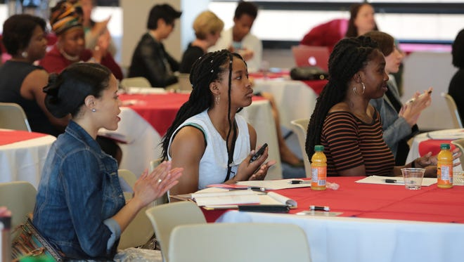 Women gather at the EmpowerHER Summit on June 27, 2017, at the University of Detroit Mercy.