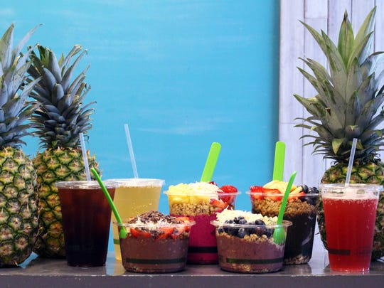 Acai bowls, pitaya bowls and smoothies are served at The Bowl, which recently launched a second location at 1200 Central Ave. in Naples.