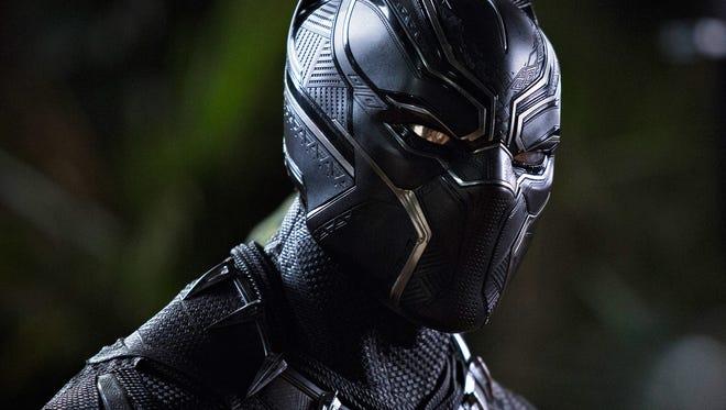 A Marvel masked man, the Black Panther (Chadwick Boseman).