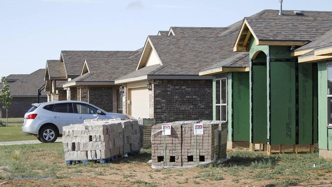 View of a new home under construction near the intersection of Rochester Ave. and 93rd St. May 3, 2017 in Lubbock, Texas.