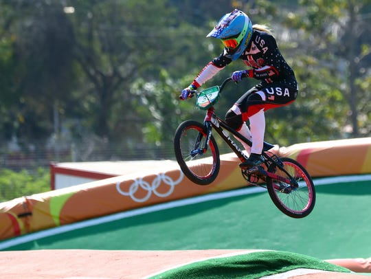 Brooke Crain (USA) during individual seeding in the