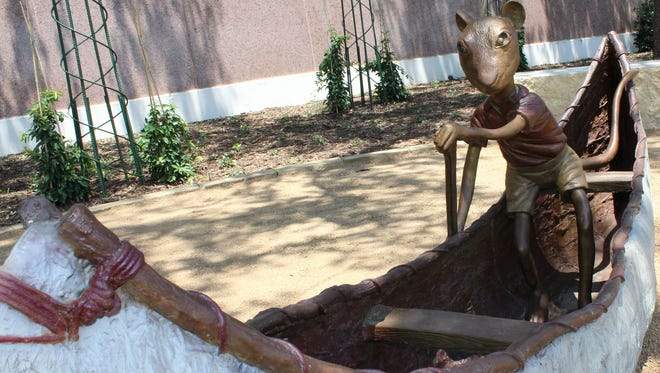 Stuart Little sculpture at the new Adamson-Spalding Sculpture Garden at the Abilene Convention Center.