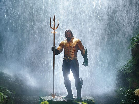 "Jason Momoa stars as the title character in ""Aquaman."""