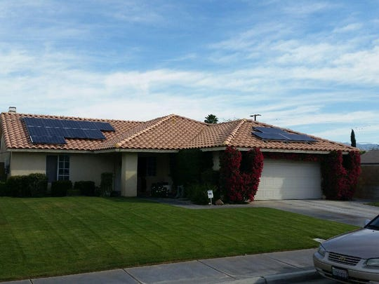 A Horizon Solar Power installation at a home in Cathedral City.