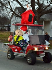 Charlie Brown and Snoopy were also in attendance at the Uniontown New Years Day Parade.