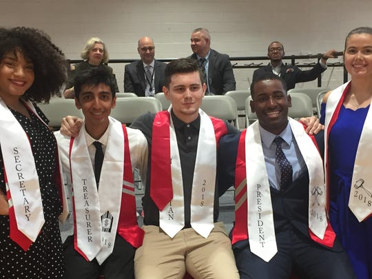 The Vineland High School Class of 2018 officers (from