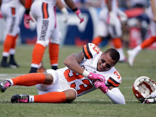Jordan Poyer suffered a lacerated kidney last year playing for Cleveland when he was wiped out on a blindside hit.