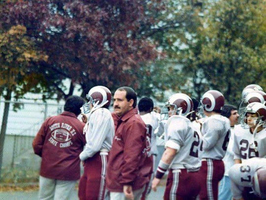 Mike Lepore Sr. coaching football at South River