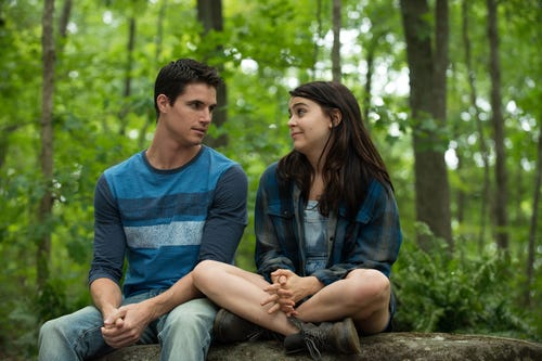 Robbie Amell and Mae Whitman in a scene from