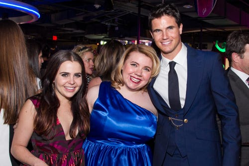 Mae Whitman, Kody Keplinger and Robbie Amell arrive at the Los Angeles fan screening of