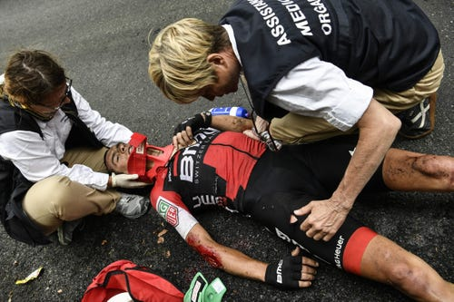 Richie Porte In Terrifying High-speed Crash In Tour De France