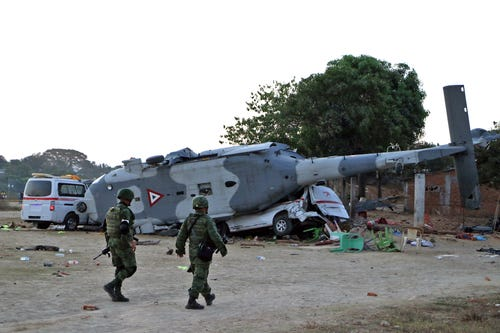 Mexico helicopter crash kills 13 in wake of earthquake