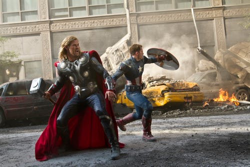 'The Avengers,' starring Chris Hemsworth and Chris Evans, is a popular Netflix title. Now Marvel will produce five new series for the streaming service. (Photo: Zade Rosenthal, Disney, via AP)