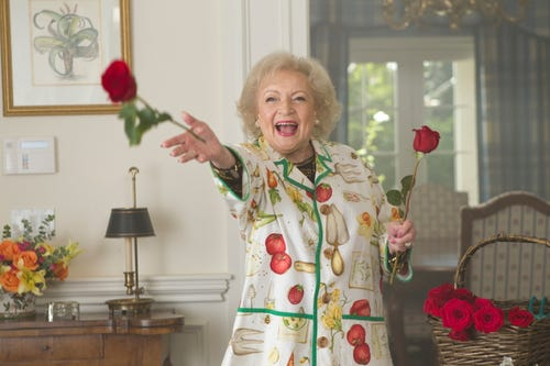 Could Betty White pull off matriarch Nell in Sherryl Woods' Chesapeake Shores? (Photo: Justin Lubin, NBC)