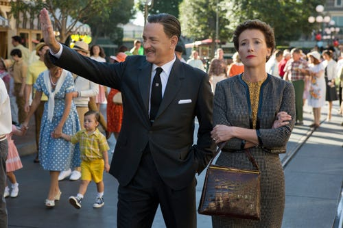 Tom Hanks as Walt Disney and Emma Thompson as author P.L. Travers in