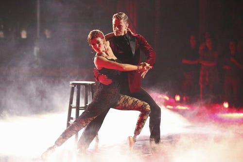 Amy and Derek on DWTS. (Photo: Adam Taylor, ABC)