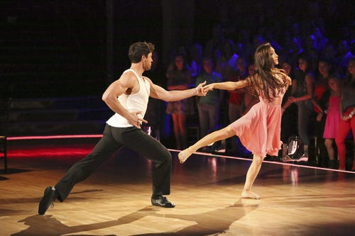 Maks and Meryl on DWTS. (Photo: Adam Taylor, ABC)