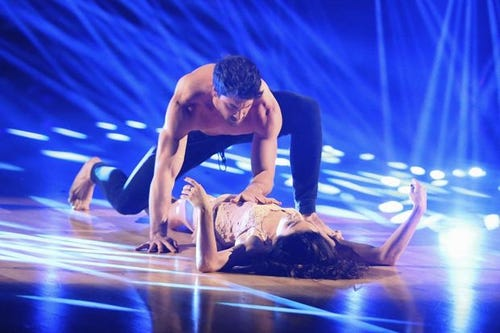 Maks and Meryl in night one of the DWTS finals. (Photo: Adam Taylor, ABC)