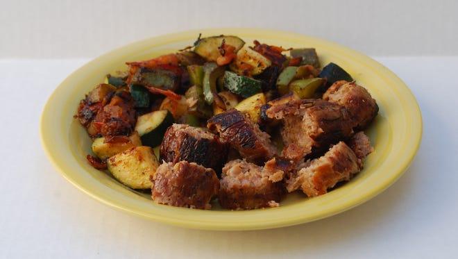 Italian Sausage and Vegetable Skillet.