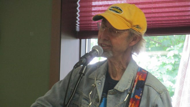 Terry Murphy performs at the Door County Senior Center.