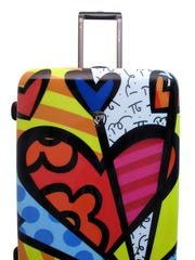 Suitcase as art: Pop artist Romero Britto's suitcase design for Heys USA.