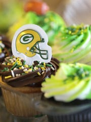Green Bay Packers themed cupcakes are available at