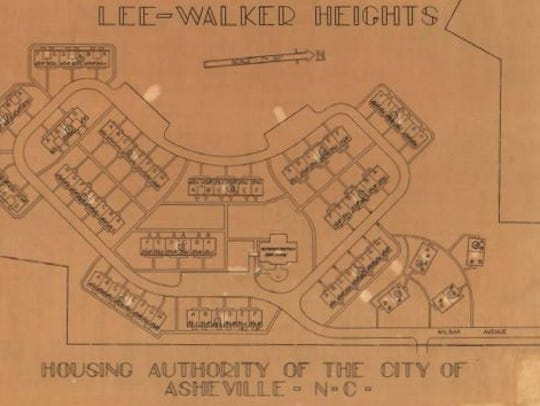 The original plan for Lee Walker Heights built in the
