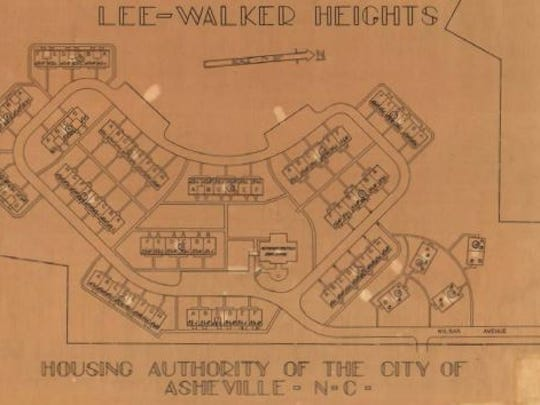 The original plan for Lee Walker Heights built in the early 1950s.