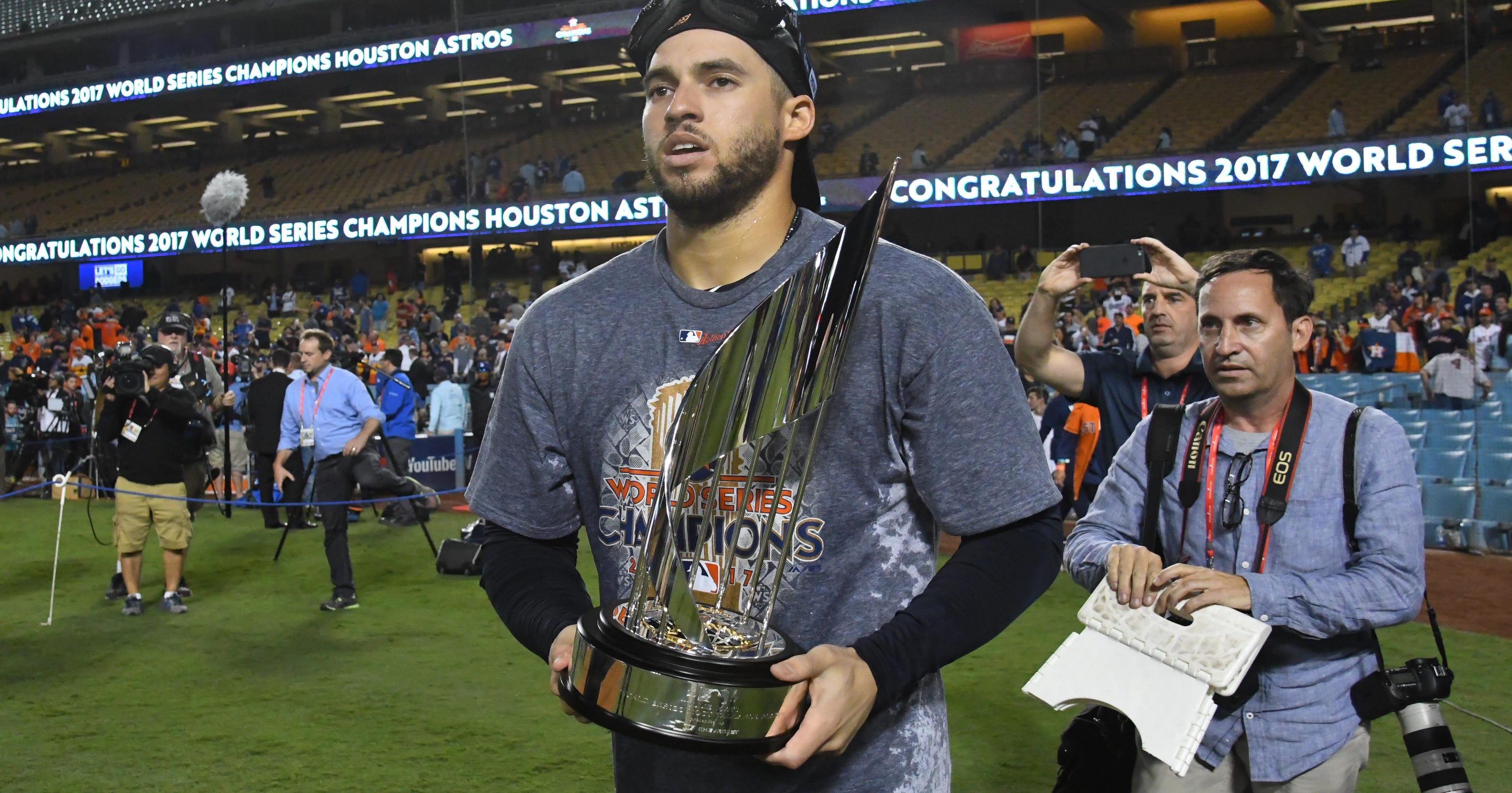 3700b9fd5ea93 Astros complete stunning rise and win first World Series over Dodgers