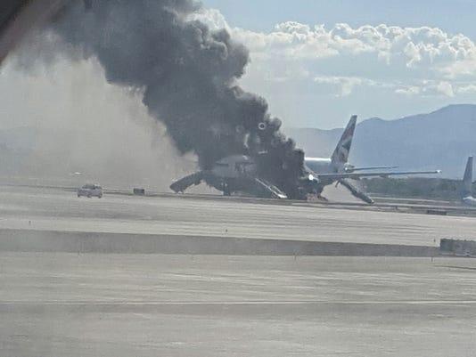 AP APTOPIX AIRCRAFT FIRE LAS VEGAS A USA NV
