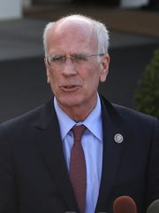 U.S. Rep. Peter Welch, D-Vt., speaks to the media after
