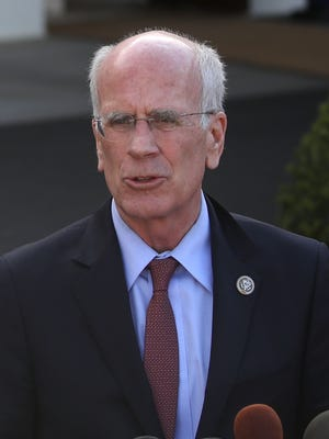 U.S. Rep. Peter Welch, D-Vt., speaks to the media after he and Rep. Elijah Cummings, D-Md., met with President Donald Trump at the White House on Wednesday, March 8, 2017, in Washington.