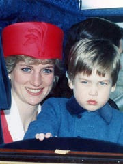 Britain's Princess Diana and her son Prince William
