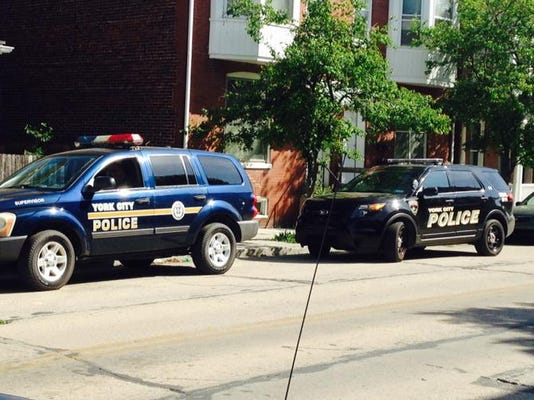 Police responded after a child fell from a second-story window in York on Thursday.