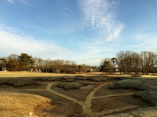 Construction work done over the winter on the bunkering between the fourth and seventh holes at Spring Lake Golf Club in an effort to recapture the intent of the original design a century ago.