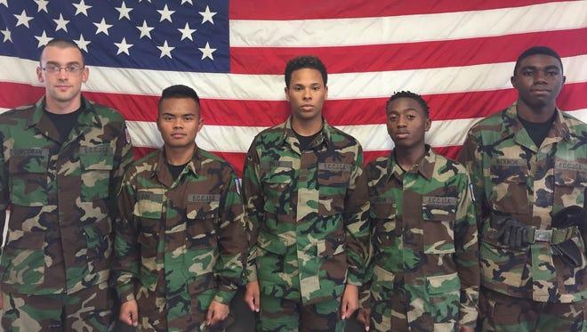 ECC Pre-Military Cadets enlisting.