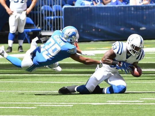 Lions cornerback Jamal Agnew's (39) ability to return