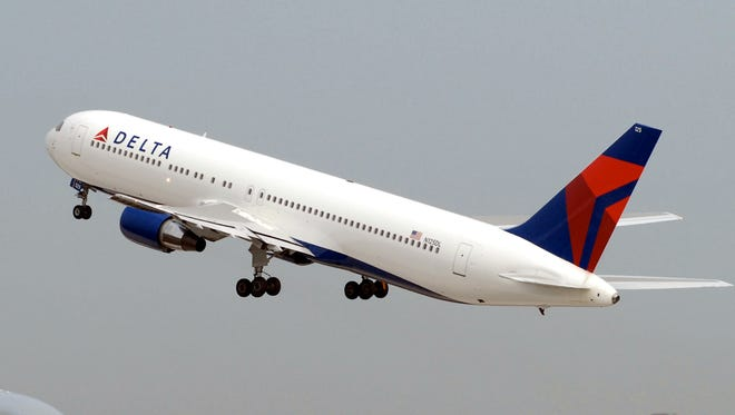 A Delta Air Lines Boeing 767.