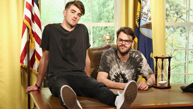 Drew Taggart, left, and Alex Pall of The Chainsmokers.