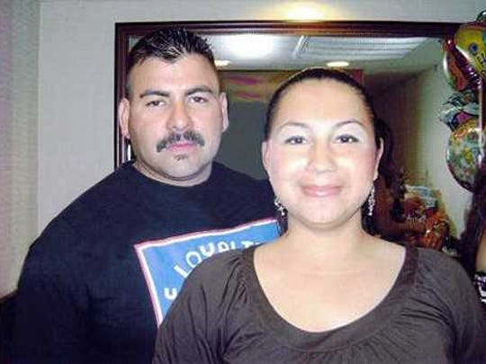 Gabe and Precious Alvarado pictured before the refinery fire in July 2009.