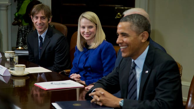 President Obama meets with tech CEOs, including Mark Pincus of Zynga and Marissa Mayer of Yahoo!