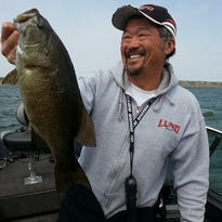 This smallmouth bass was caught on 81 Ponds near Brookings.