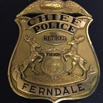 The back of former Ferndale Police Chief Neil McGillis is shown.